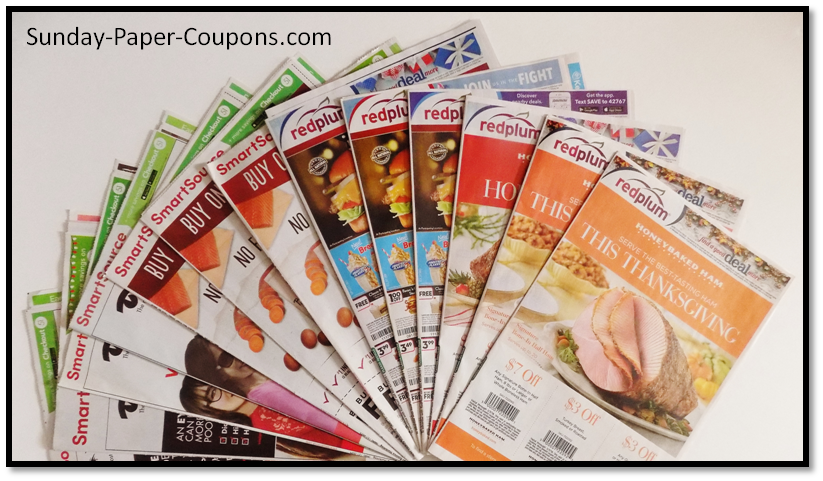 Sunday Coupon Insert Schedule 2019