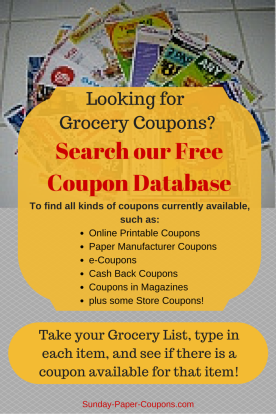 Free Online Coupon Database