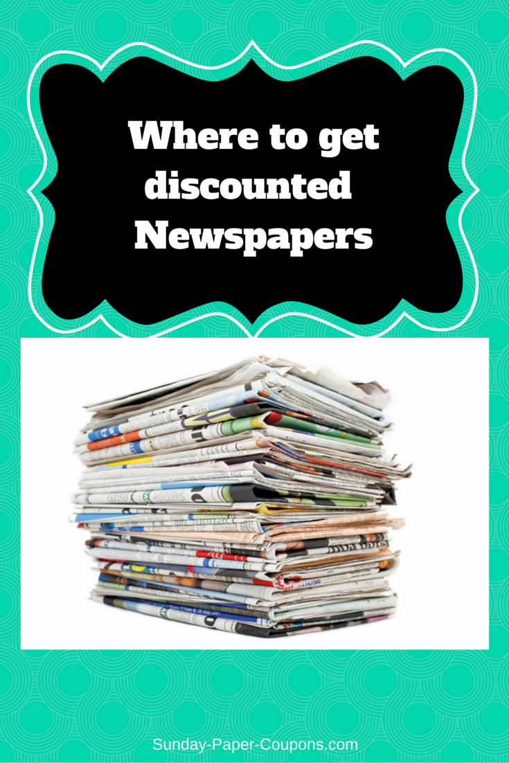 Where to get Discounted Newspapers