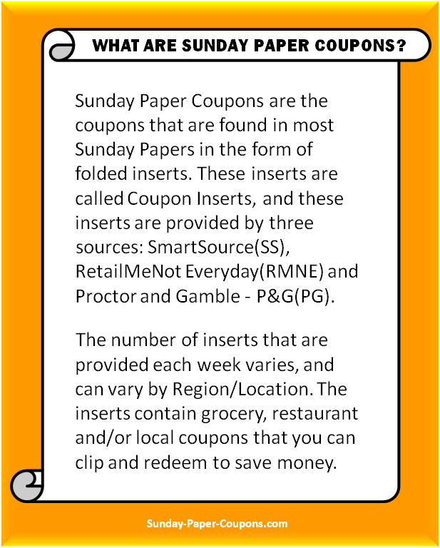 What are Sunday Paper Coupons
